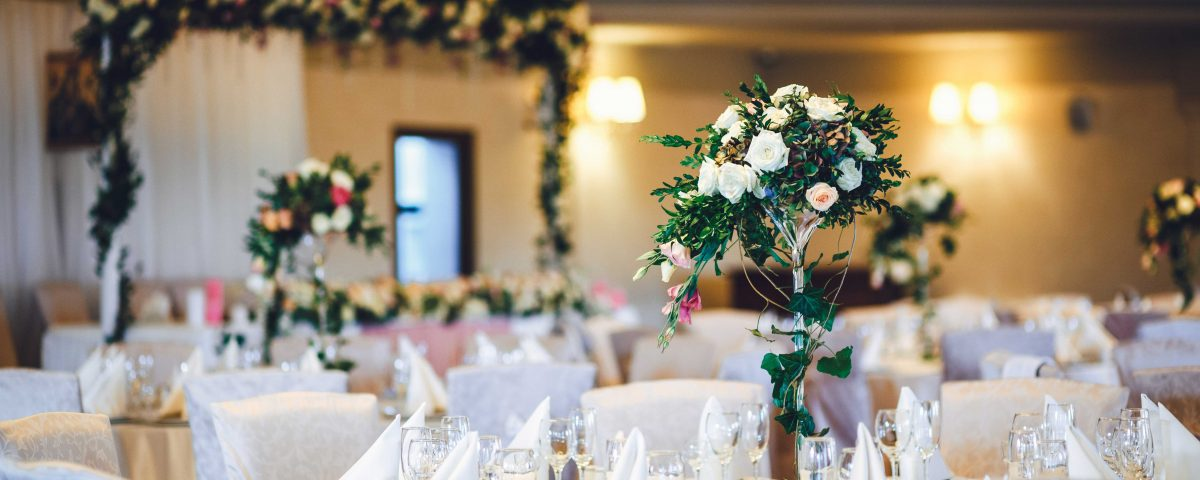 Decoración interior banquete bodas